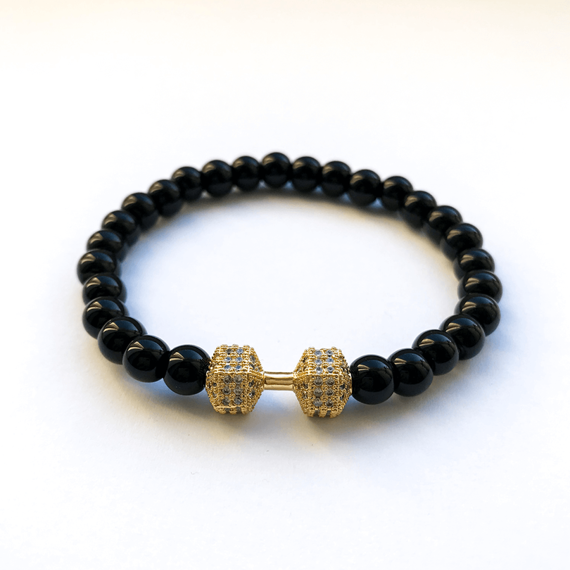 Fit Kolekcja - FIT LIFE Beaded Dumbbell Bracelet - Hazy