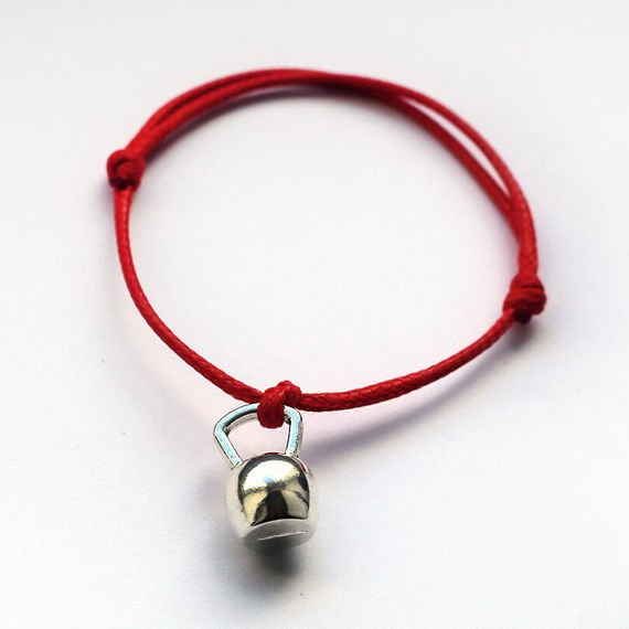 Fit Kolekcja - KETTLEBELL String Bracelet - Red