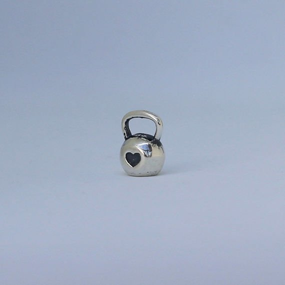 Fit Kolekcja - Oxidised Sterling Silver Pendant KETTLEBELL 003 MINI ❤
