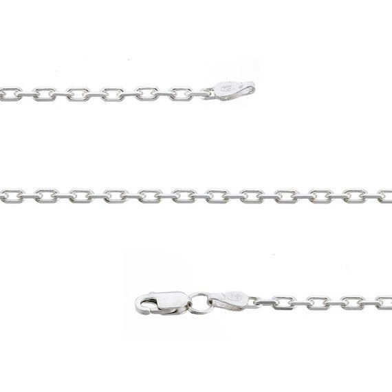 Fit Kolekcja - Sterling Silver Anchor Link Chain 50 cm