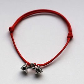 Fit Kolekcja - BENT BARBELL String Bracelet - Red