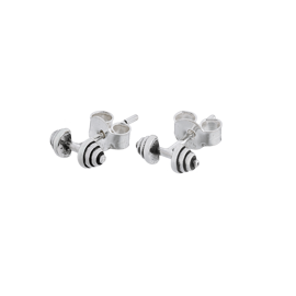 Fit Kolekcja - DUMBBELL Earrings Sterling Silver Studs
