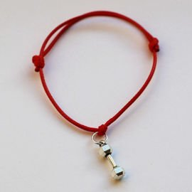 Fit Kolekcja - DUMBBELL String Bracelet - Red
